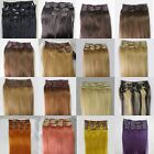 """New AAA+ 20""""-26""""Clip In Remy Real Human Hair Extensions Straight Any Color 105g"""