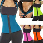 UK Thermo Sweat Neoprene Body Shaper Slimming Waist Trainer Cincher Yoga Vest
