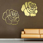 Rose Flower Mirror Home Wall Stickers Decor DIY Decal Removable