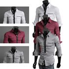 On Sale Mens Luxury Formal Casual Long Sleeve Shirt Dress Shirts Size S M L XL
