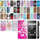 """For Sony Xperia Z5 Premium 5.5"""" PATTERN HARD Back Case Phone Cover + Pen"""