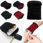 Wrist Wallet Pouch Band Fleece Zipper Running Travel Gym Cycling Safe Sport Hot