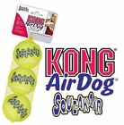 KONG AIR DOG/PUPPY SQUEAKER TENNIS BALLS, AND THEY FLOAT!! S/M/L PACKS OF 3