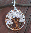 Tree of Life Necklace, Moonstone,Quartz Tree of Life in Copper, April Birthstone