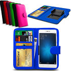 For Lenovo P2 Smartphone - Clip On PU Leather Flip Wallet Book Case Cover