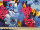 Payless Fabric Printed Lycra Spandex Stretch Royal Blue Black Bold Floral