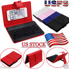 ios 7 keyboard - Detachable Bluetooth Keyboard Leather Case Cover For 5-7 Inch IOS, Android Phone