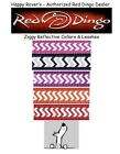RED DINGO REFLECTIVE SAFETY Dog Collars / Leash - Pick Size/Color Chevron ZIGGY