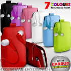 LEATHER PULL TAB POUCH SKIN CASE COVER+EARBUD EARPHONE FITS VARIOUS LG PHONES