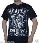 SOA Men's Sons of Anarchy Reaper Crew T-shirt  (NEW)   SOA80A