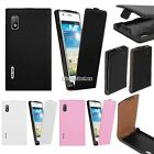 Flip Magnetic PU Leather Skin Cell Phone Case Cover For Optimus L5 E610 E612 N98
