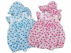 BNWT Baby girl summer floral romper & hat Clothes outfit  0-3m 3-6m or 6-9m