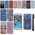 For Apple iPhone 6 4.7 inch PATTERN HARD Protector Case Phone Cover + Pen