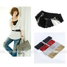 Women Elastic Lace Up Corset Style Wide Band Waspie Cinch Belt for Dresses Shirt