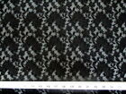 Discount Fabric Stretch Lace Heavily Embroidered Elagant Black Floral 102LC
