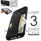Leather Card Wallet Slot Flip Holder Case Cover For Samsung Galaxy S7/S7 Edge