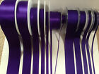 Berisfords D/F Satin & Grosgrain Ribbon - LIBERTY 9490 Purple Cadbury  3 to 50mm