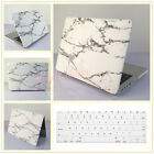 """2in1 White Marble Painted Hard Case Cover for MacBook Air Pro 11""""12""""13""""15""""Retina"""