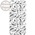 Watercolor Feathers Monochrome Slim Fit Phone Case Cover for iPhone Samsung