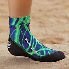 Sand Socks Kid's Classic High Top Athletic Socks - Green Lightning