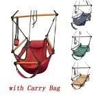 Outdoor Indoor Hammock Hanging Chair Air Deluxe Swing Chair Solid Wood 4 Colour
