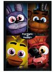 Black Wooden Framed Five Nights At Freddy's Quad Maxi Poster 61x91.5cm