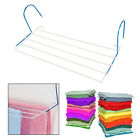 COMPACT  5 BAR UTILITY CLOTHES AIRER RADIATOR INDOOR DRYING RACK RAIL HANGER