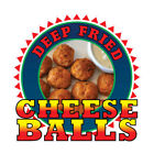 Cheese Balls Concession Restaurant Food Truck Die-Cut Vinyl Sticker