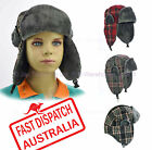 Kids Boy Toddler Faux Fur Ear Flap Aviator Winter Skiing Russian Cap Trooper Hat