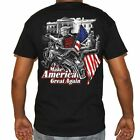 Trumps B*tch Fell Off Biker T-Shirt - Motorcycle Hilary Make America Great Trump image