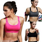 Women's Lady Stretch Sport Bra Padded Running Gym Yoga Fitness Tank Tops Workout