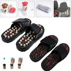 Healthy Reflexology Acupuncture Wooden Foot Massager Massage Sandals Shoes CA
