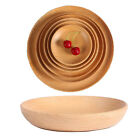 Beech Wood Tray Round Pizza Plates Bread Fruit Dish Plate Dinnerware