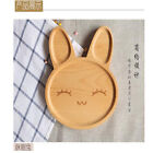 Creative Children Kids Baby Cartoon Cute Wood Plate Tray Pallets Pizza Snack