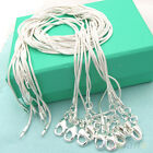 New 10pcs Wholesale Silver Plated 1mm Snake Chain Necklace 16-24inch Hot Sell