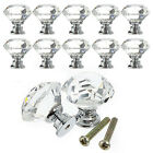 1- 8pc 8X 40MM Crystal Glass Door Knobs Diamond Drawer Cabinet Furniture Kitchen