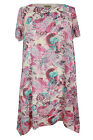 New Ladies Pink Cream Paisley Print Dress Plus Sizes 16 - 26