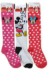 DISNEY KNEE HIGH MICKEY MOUSE MINNIE - 1 PAIR socks SIZE 6-8 SHOE SIZE 4 - 10.5