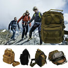 Outdoor Tactical Canvas Shoulder Military Backpack Travel Hiking Trekking Bag