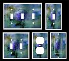 ABSTRACT BLUE GREEN ART LIGHT SWITCH COVER PLATE     MADE IN USA