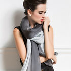 Women Double Gradient Color Long Soft Chiffon Scarf Wraps Shawl Stole Scarves