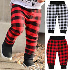 Kids Newborn Baby Bottom Plaid Pants Boy Girl Harem Trouser Leggings Wear 0-18M