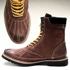 Calvin Klein THOMAS BOOT Dark Brown burnished wax leather lace-up $139 NEW