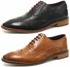 London Brogues George Oxford Mens Lace Up Brogue Shoes ALL SIZES AND COLOURS