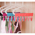New Outdoor Folding Hanging Clothes Laundry Hanger  Drying Holder w/ 6Clips Rack