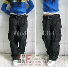 Chic Women's Military Loose Cargo Pockets Pants Casual Cotton Outdoor Trousers #