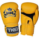 "Top King Muay Thai Boxing Gloves Leather Super ""AIR"" Training Fighting"