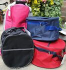 RIDING HAT BAG CARRY CASE COVER * NAVY BLUE BLACK RED PINK waterproof lined