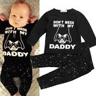 Baby Kids Boy Girl Long Sleeve Blouse Tops T-shirt + Long Pants 2pcs/set Outfit