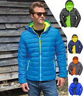 Result Mens Padded Quilted Puffer Hooded Jacket Coat - Water Repellent Windproof
